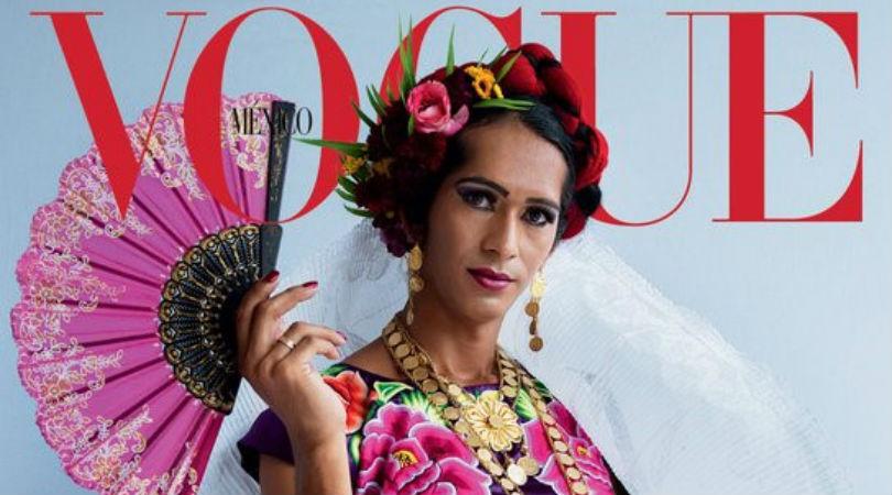 Histórico: por primera vez Vogue publica en portada una muxe