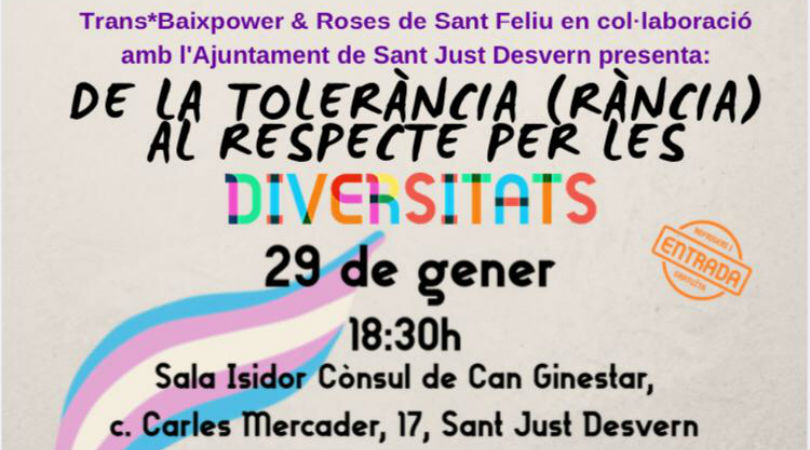 De la tolerancia rancia, al respeto por las diversidades - Sant Just Desvern @ Centro Cultural Can Ginestar, Sala Isidor Cònsul