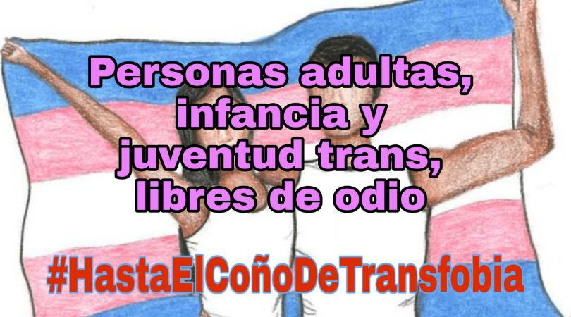 Personas adultas, infancia y juventud trans, libres de odio