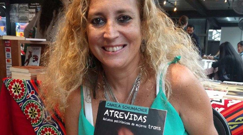 Camila Schumacher presentó 'Atrevidas' durante la Feria Internacional del Libro 2019. Cortesía Carlos Aguilar / La República