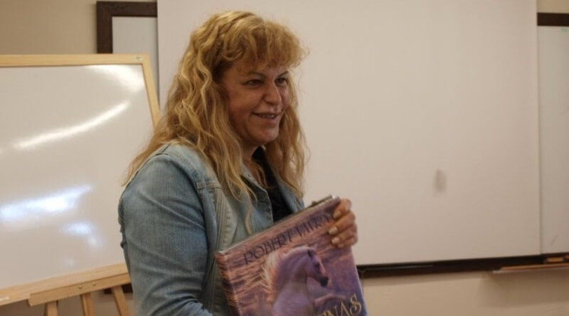 La doctora Sonia García, durante un curso de genética aplicada a la mejora y selección de las razas caninas que impartió en la Isla. Sociedad Canina de Tenerife