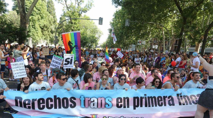 Desfile del Día del Orgullo LGTBIQA+, en Madrid, en 2018, en el que se reivindicó los derechos de las personas trans / JAIME VILLANUEVA