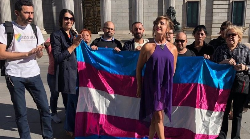 Plataforma Trans ante el Congreso - EUROPA PRESS - Archivo