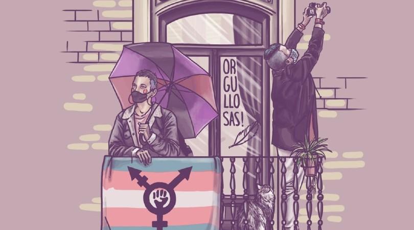 Campaña de acoso tránsfoba contra el cartel del 8M Zaragoza y su ilustradora Eva Cortés