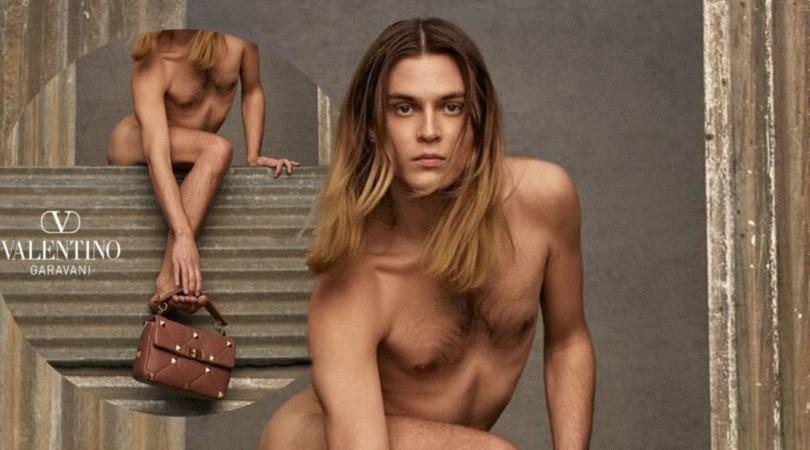 Valentino saca las garras por la diversidad y entra en el siglo XXI con un hombre desnudo