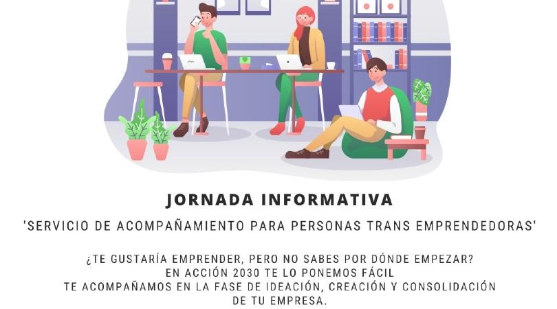 Jornadas servicio acompañamiento para personas trans emprendedoras @ Vía Zoom