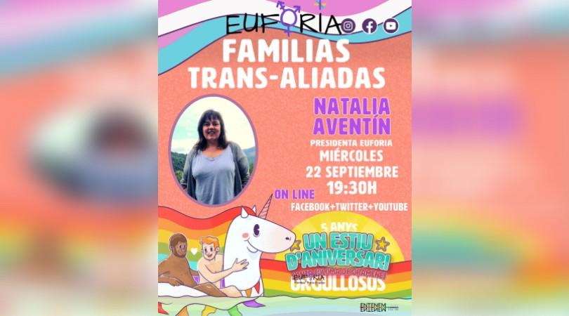 Un estiu d'aniversari: charla con Natalia Aventín, presidenta de Euforia Familias Trans-Aliadas @ Online